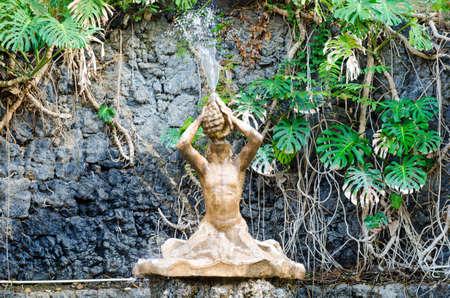 catania: Catania, Italy - September 13, 2015: Fountain in Villa Bellini. It is the oldest urban park of Catania, Sicily