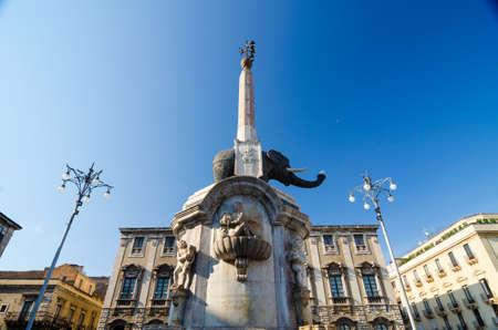 catania: Fountain Elephant in Catania, Sicily Editorial