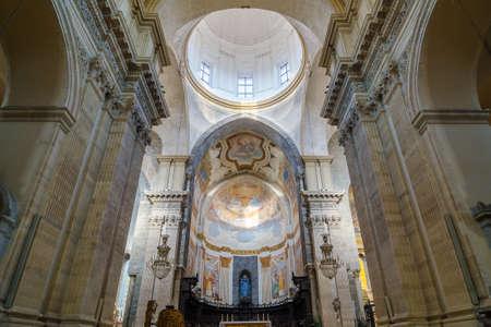 catania: Church interior. Cathedral of Santa Agatha - duomo in Catania