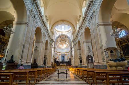 church interior: Church interior. Cathedral of Santa Agatha - duomo in Catania
