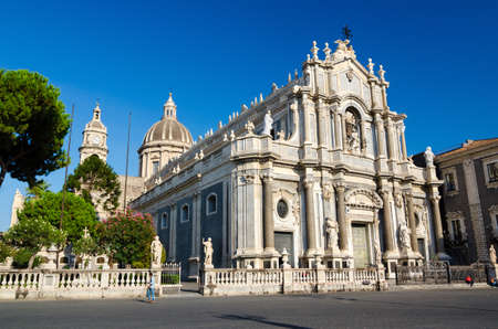 catania: Piazza Duomo or Cathedral Square with Cathedral of Santa Agatha - Catania duomo in Catania, Sicily, Italy