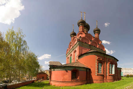 Panorama of the Epiphany church in Yaroslavl, 17th century. Golden ring of Russia.