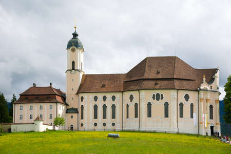 Beautiful the Pilgrimage Church of Wies, Bavaria, Germany. UNESCO World Heritage Site