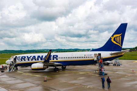 Passengers boarding Ryanair flight Editorial