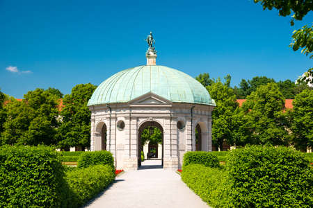 diana: Court Garden Temple of Diana in Munich, Germany.