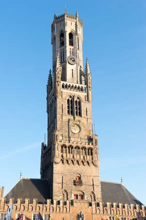 The Belfry Tower of Bruges, or Belfort is a medieval bell tower used for the protection of freedoms conceded by the Count of Flanders in the historical centre of Bruges, Belgium.