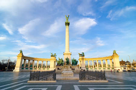 Millennium Monument on the Heroes Square - Hosok Tere is one of the major squares in Budapest, Hungary.