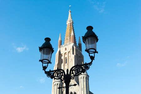 Street lantern on historical center of Brugge, Belgium.