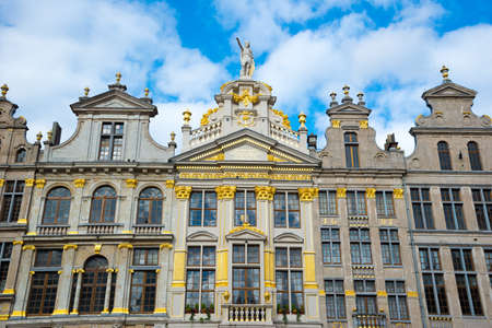 Brussels, Belgium - April 22, 2017: Guildhalls on the Grand Place in Brussels, Belgium Editorial