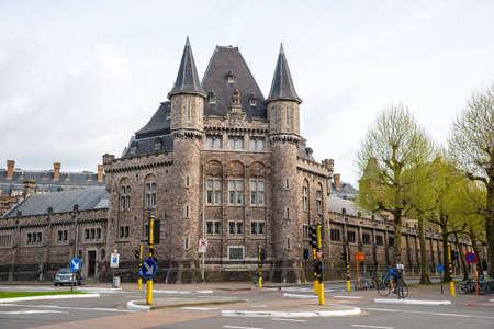 Ghent, Belgium - April 16, 2017: Leopold Barracks - one of belgian ghotic landmark in Gent, Belgium Editorial