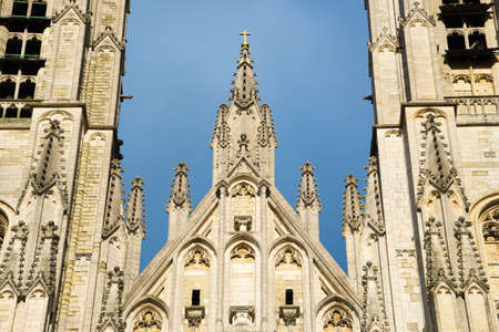 Cathedral of St. Michael and St. Gudula - Roman Catholic church on the Treurenberg Hill in Brussels, Belgium.