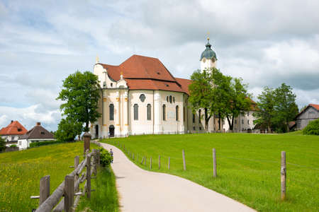 Pilgrimage Church of Wies, Bavaria, Germany. Фото со стока
