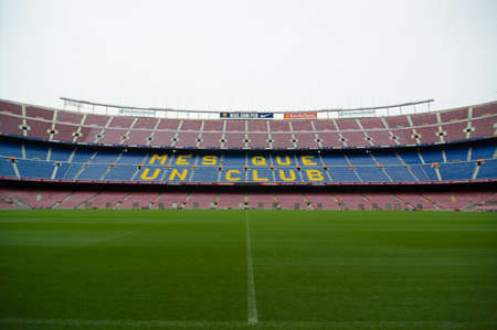 Barcelona, Spain - September 22, 2014: Camp Nou is a largest stadium in Europe. It has been the home of FC Barcelona since its completion in 1957. Barcelona, Catalonia, Spain.
