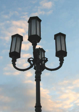 novgorod: Lantern at Nizhny Novgorod street Stock Photo