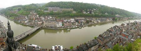 maas: Panorama of Dinant city in Belgium