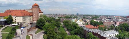 Panorama of Krakow city