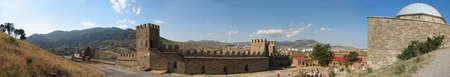sudak: Panorama of Sudak fortress