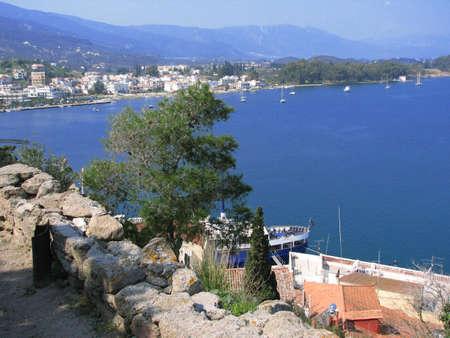 poros: Aegian sea near Poros island