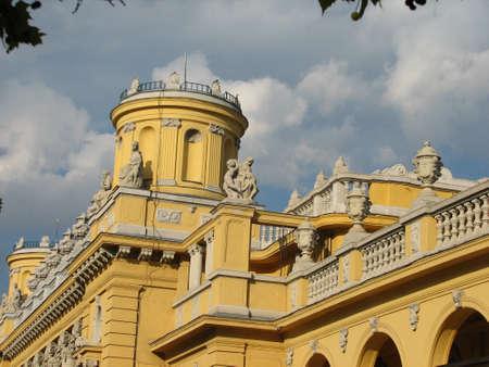 szechenyi: Front of Szechenyi baths