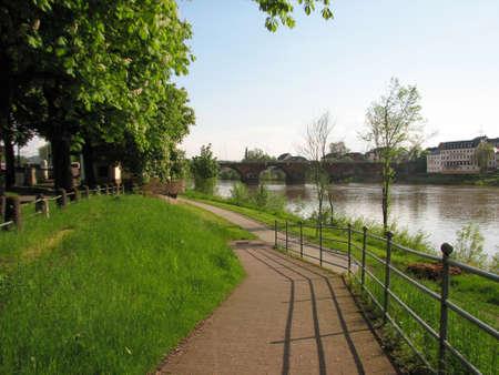 mosel: Old bridge in Trier