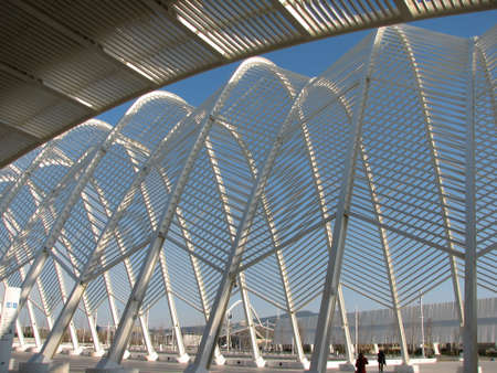 metal structure: Steel structures of entrance to Olympic stadium
