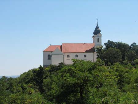 balaton: Tichany abbey near Balaton Stock Photo