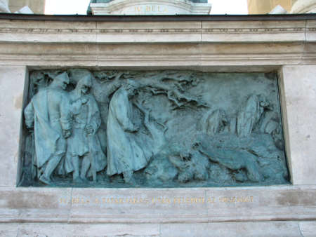 bas relief: Bas relief at Heroes square in Budapest