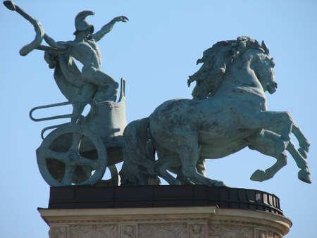 allegoric: Allegoric statue at Heroes square Editorial