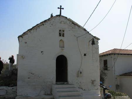 poros: Small church at Poros island Stock Photo