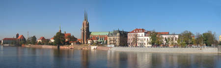embankment: Embankment of Odra in Wroclaw