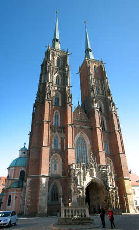 double cross: Cathedral in Wroclaw