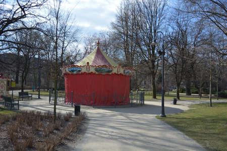 city park pavilion: Pavilion in Wroclaw old city park