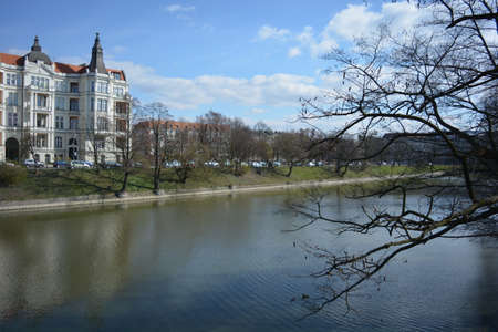 wroclaw: City canal in Wroclaw