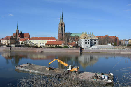 New embankment building in Wroclaw