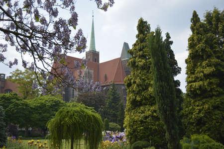 botanics: Church of the Saint Cross in Wroclaw