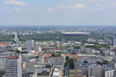 oiseau mouche: Varsovie � partir de la hauteur de la mouche des oiseaux Editeur
