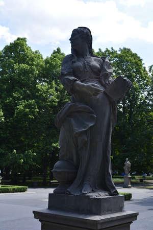 allegoric: Saxon allegoric statue in a park in Warsaw