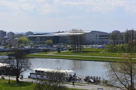 krakow: Vistula river in Krakow