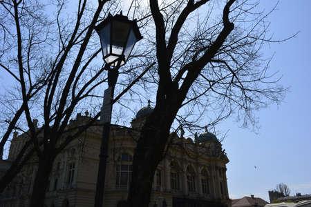 krakow: Lantern in Krakow Old Town