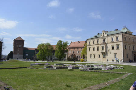 wawel: Wawel castle yard Editorial