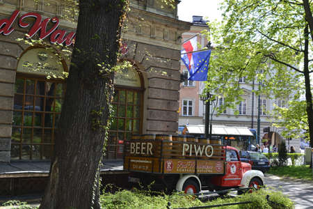 Krakow city center landscape Editorial