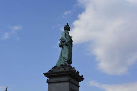krakow: A monument at Krakow Market