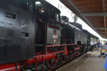rarity: Rarity steam train at Swidnica train station