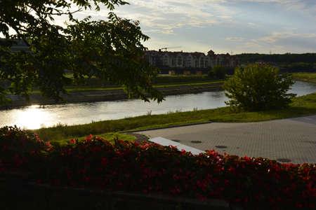 poznan: Sunset in Poznan
