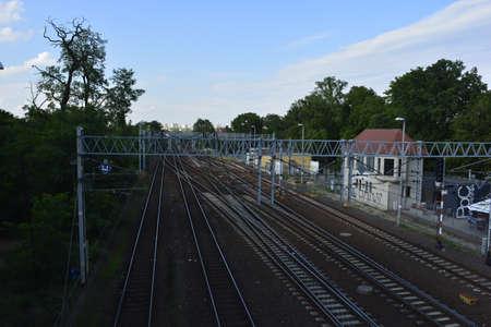 poznan: Railroad in Poznan Editorial