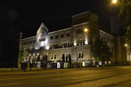 poznan: Poznan castle in the night