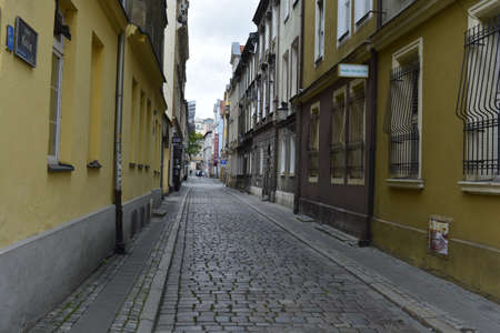 poznan: Narrow street in Poznan Stock Photo