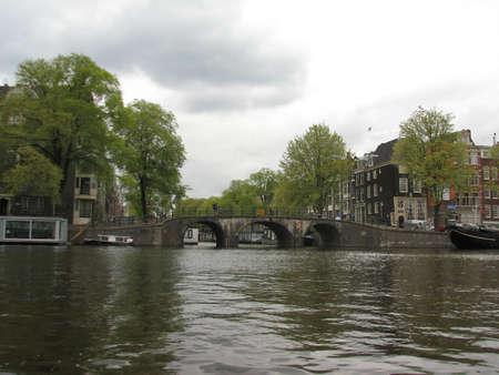 amstel: Amstel river in Amsterdam