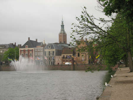 'the hague': A pond in the central Hague