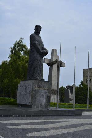 poznan: Mickiewicz monument in Poznan Editorial